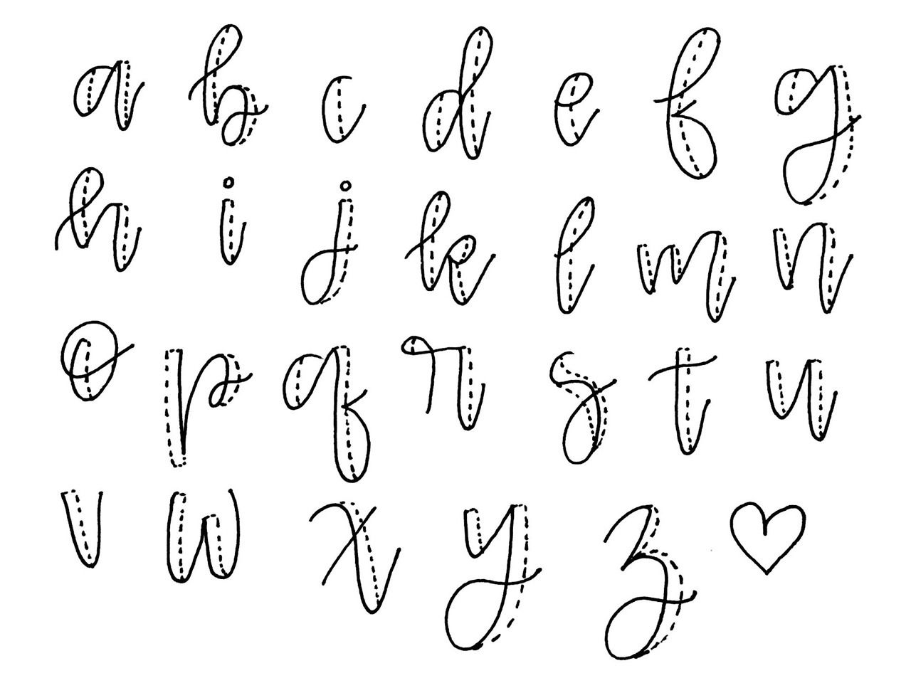 Studenting Steps 1 Exaggerated Cursive 2 Thicken The