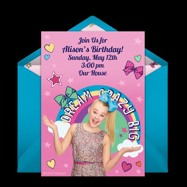 free jojo siwa birthday invitations