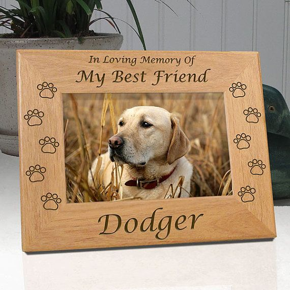 Personalized Dog Memorial Frames - In Loving Memory Of My Best ...