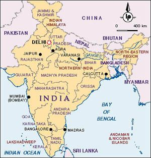 varanasi in india outline map Current Map Of India After Partition In 1947 The Partition Of varanasi in india outline map