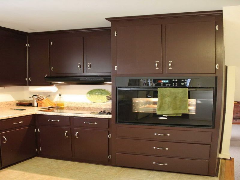 Amazing Brown Kitchen Ideas | Kitchen Cabinet Painting Color Ideas: Natural Brown Kitchen  Cabinet .