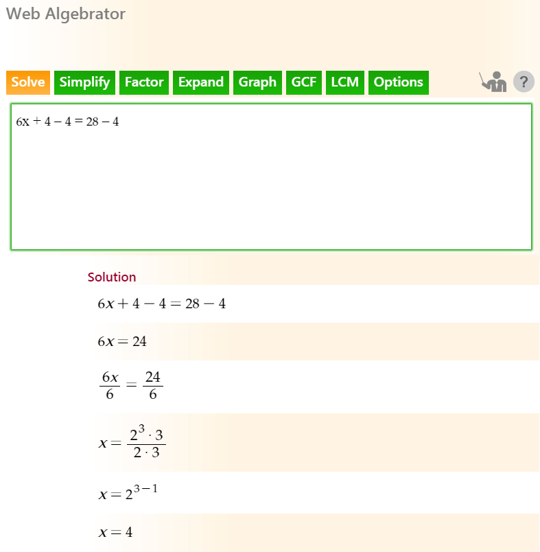 QuickMath Algebra Solver #algebra #algebrasolver | Algebra Solver ...