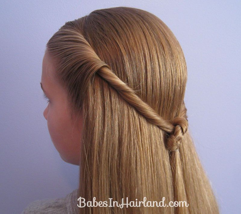 Twisted Knot Hairstyle   Teen Hairstyles (12)   Kids hair ...