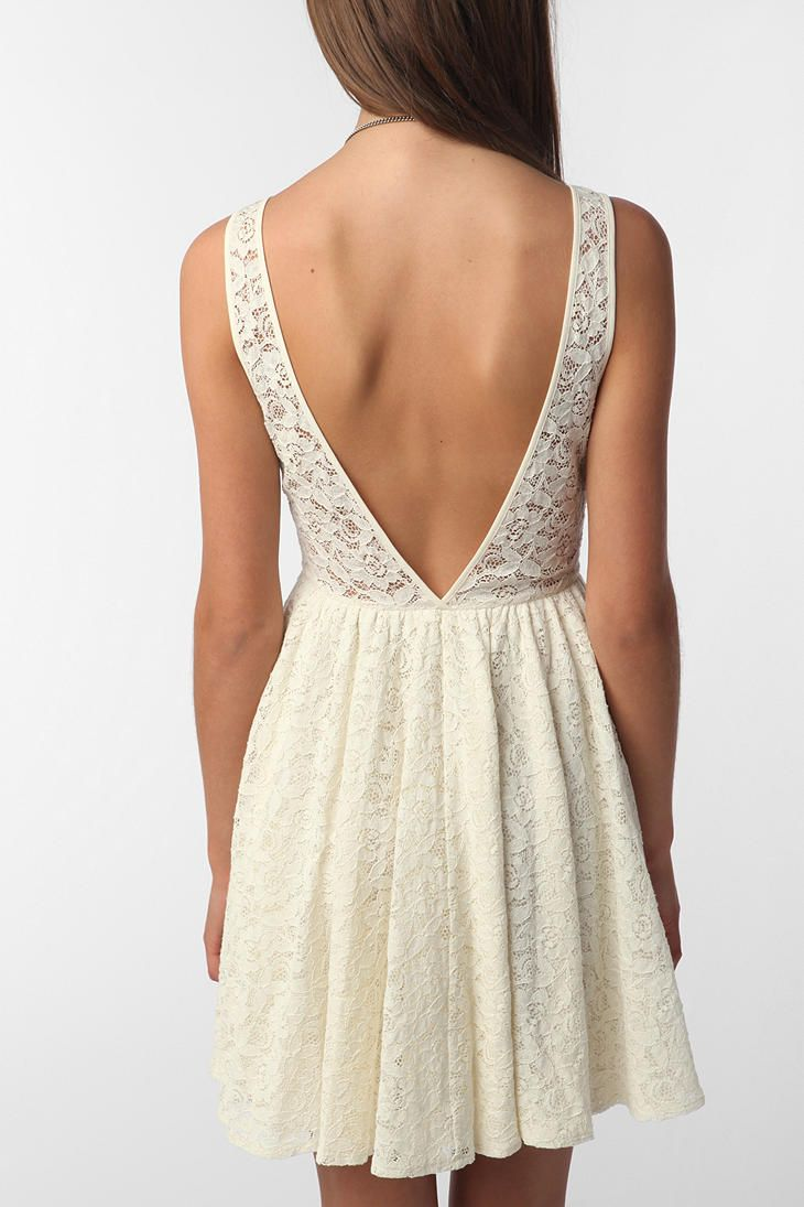 Pins and needles backless lace dress urbanoutfitters fash