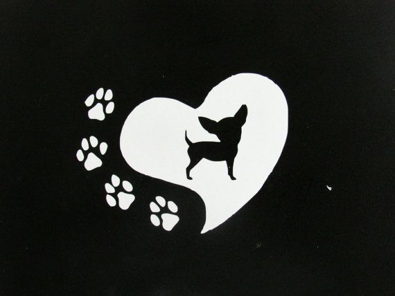 CHIHUAHUA HEART LOVE Vinyl Decal Sticker Car Window Bumper Computer Laptop