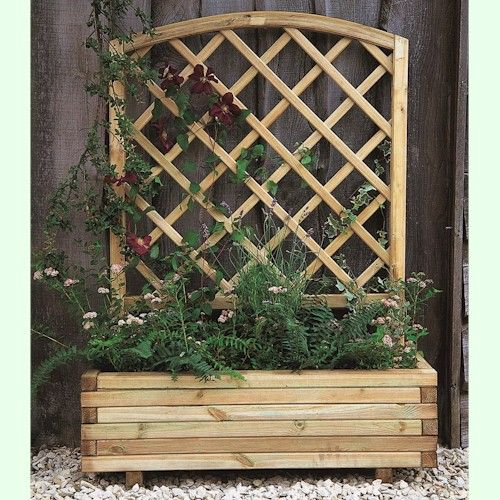 Trellis Planter To Hide The Bin Area 59 95 Planter Trellis Wooden Planters With Trellis Garden Trellis Planters