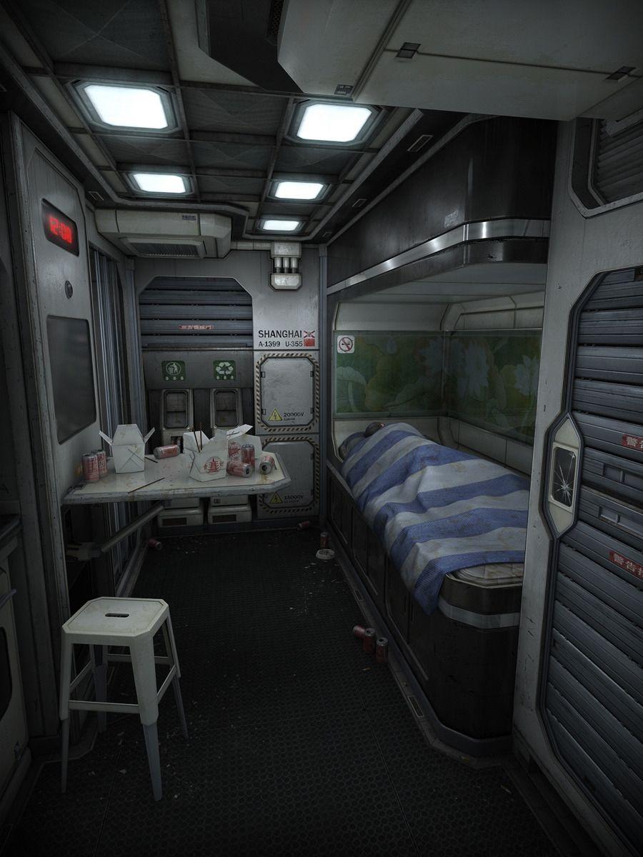 Quartier vaisseau b l1v whaler pinterest sci fi for Sci fi decor