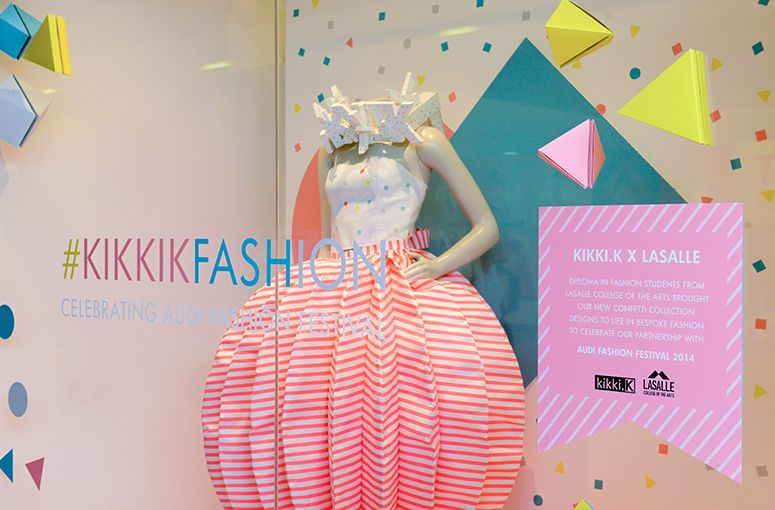 kikki.K x LASALLE College of the Arts Fashion Designs in the Ion Orchard store windows (also, WIP at: http://www.kikki-k.com/blog/celebrating-audi-fashion-festival-2014/?utm_source=CMail&utm_medium=email&utm_campaign=140513&utm_term=AFF%20LaSalle&utm_content=sketches)
