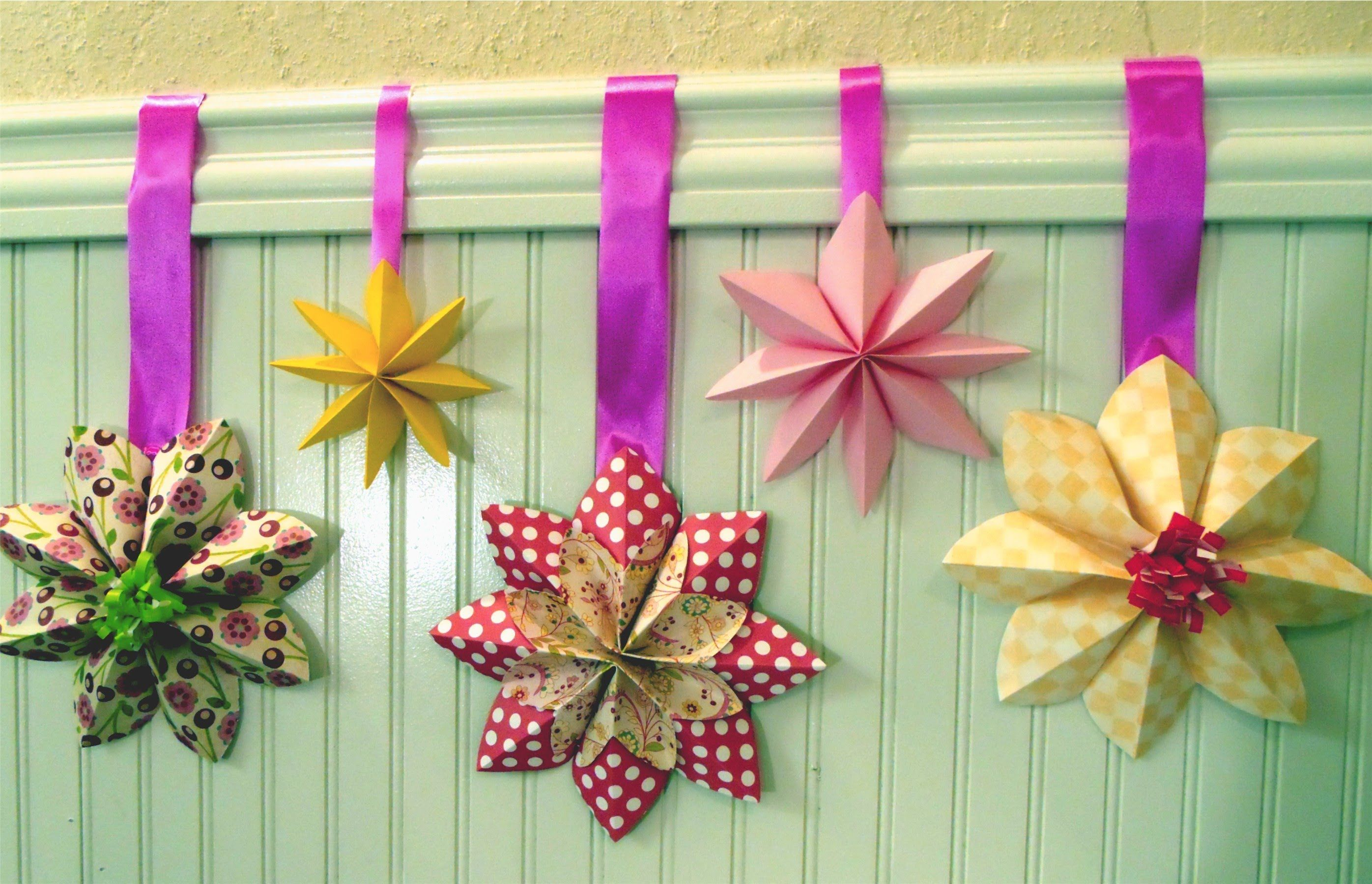 Fold a bunch of these easy to make flowers for a girls room or for a fold a bunch of these easy to make flowers for a girls room or for a party this video shows you how to make a beautiful flower decoration izmirmasajfo