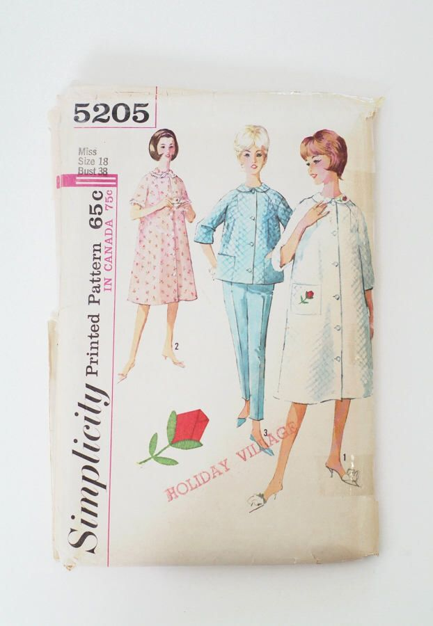 Vintage sewing pattern / simplicity 5205 / Robe sewing pattern ...