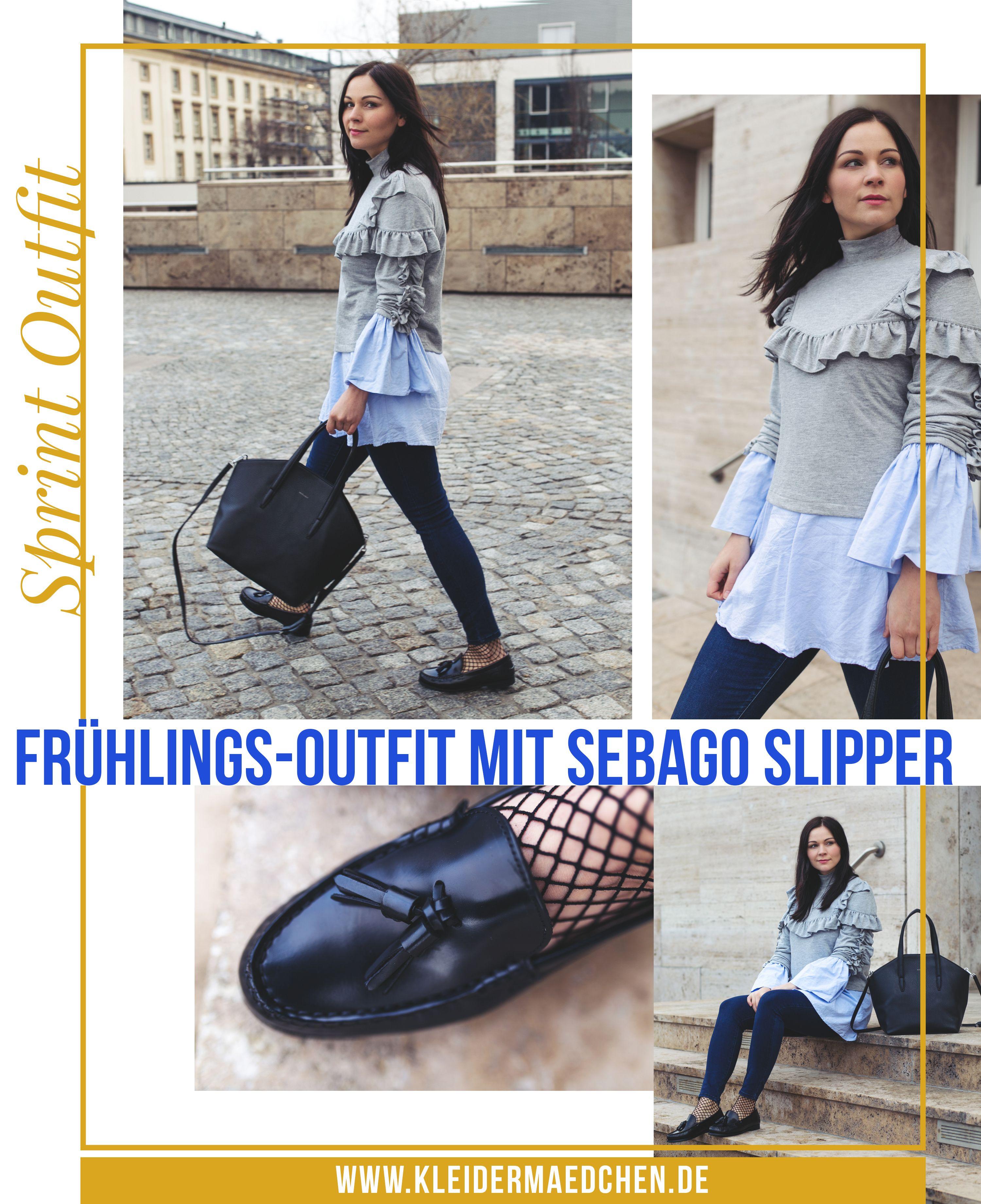 Frühlings Outfit mit Sebago Plaza Tassel Slipper und Volants ...