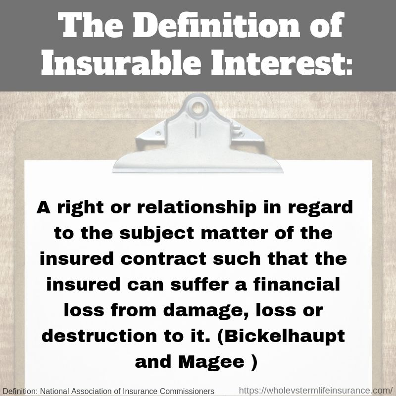 What Is Insurable Interest Definitions Permanent Life Insurance Universal Life Insurance