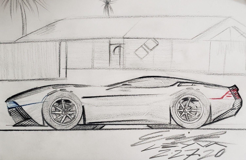 DAY 81 • 1.21 • #delorean #electriccars #electricvehicle #sportscar #coupe #transportationdesign #productdesign #cardesign #design #industrialdesign #automotivedesign #design #luxury #luxurycar #art #dailydesign #dailydrawing #dailyart #dailyillustration #sketching #drawing