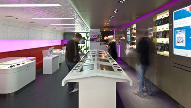 Interior design virgin mobile retail store australian design review bbym pinterest - Mobile shop interior design ideas ...