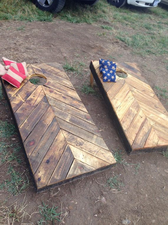 Rustic Corn Hole Boards Made From Reclaimed Wood By Jkgaiagardens