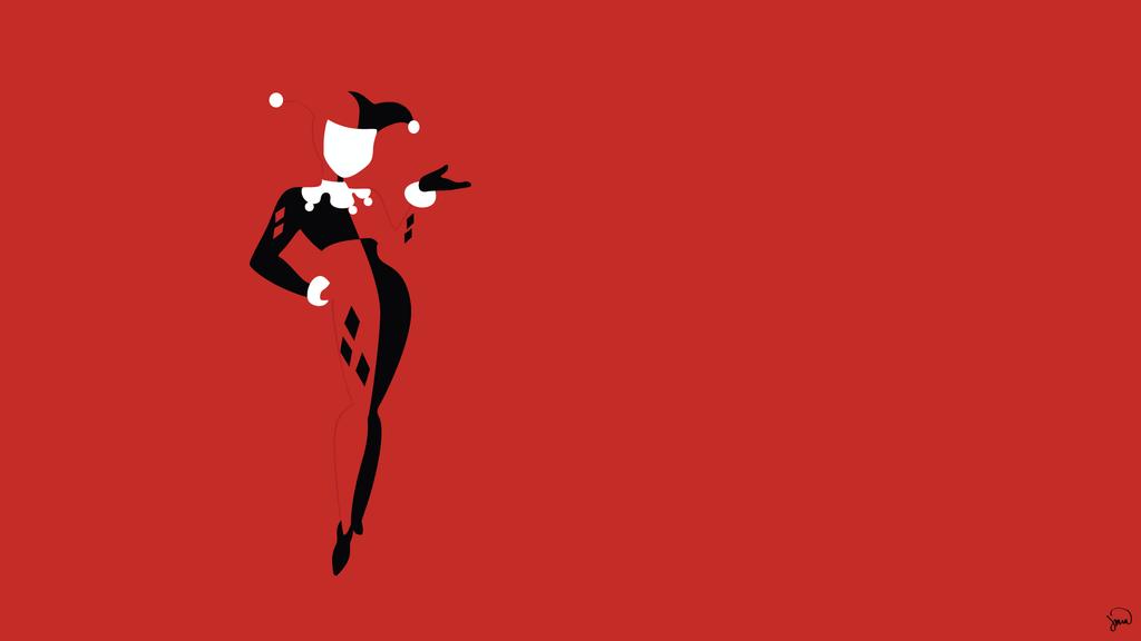 Harley Quinn Minimalist Wallpaper by greenmapple17