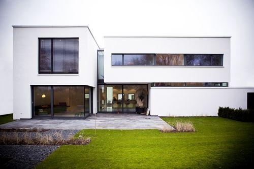 neubau eines einfamilienhauses in 50259 pulheim-brauweiler ... - Moderner Eingangsbereich Aussen