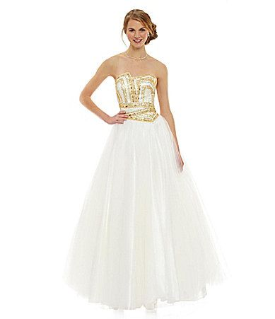 Glamour by Terani Couture Beaded Ball Gown #Dillards | Dresses ...
