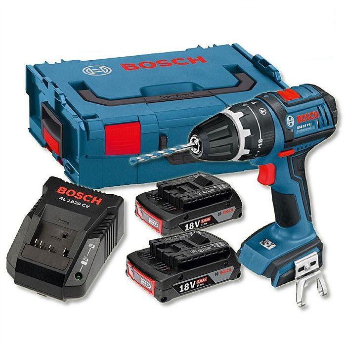 Bosch Gsb18vlids 18v 2 0ah Hammer Combi Drill With L Boxx 139 99 Drill Cordless Hammer Drill Compact Drill