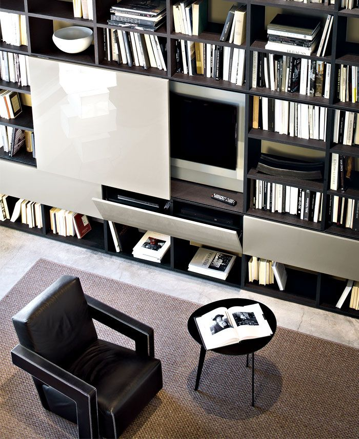 Selecta by Lema - Italian Wall System Furniture - Rogerseller - aufbewahrungsmobel wohnzimmer pari dispari presotto