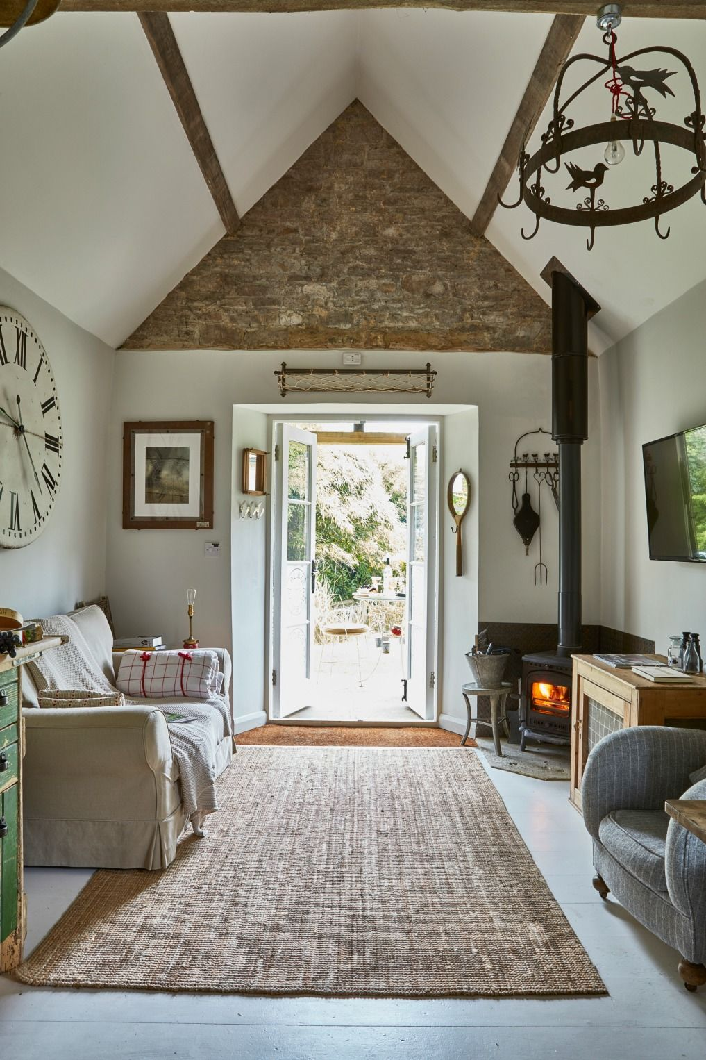 Eclectic Home Tour Filly Island Small Cottage Interiors Tiny Cottage Interior Country Cottage Decor #small #cottage #living #room