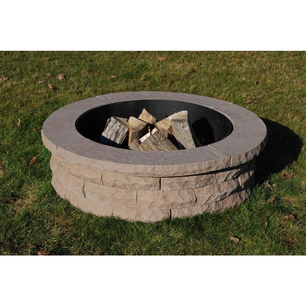 Nantucket Pavers Ledgestone 47 in. Concrete Fire Pit Ring ...