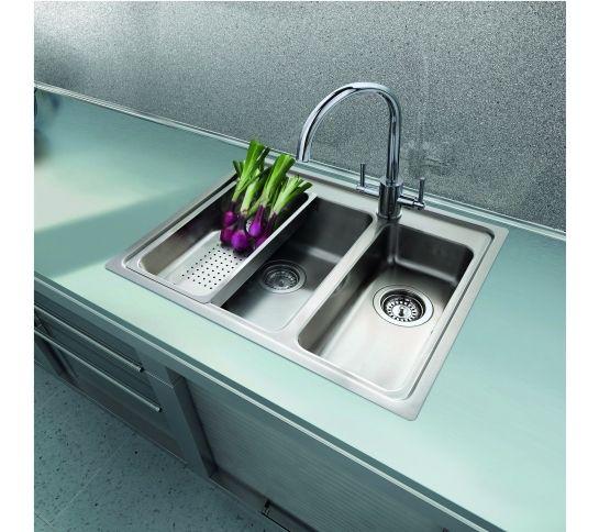 Clearwater Bella 1.5 Bowl Kitchen Sink Top/Flush Mount Steel ...