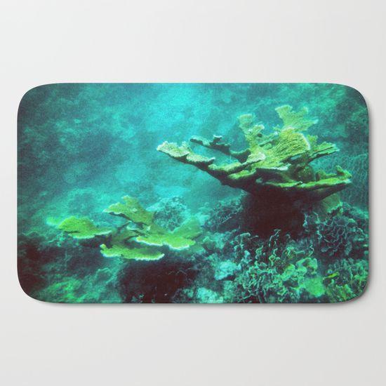Mermaid Bath Mat Sea Coral Bath Mat Under The Sea