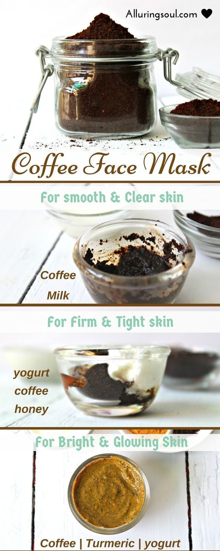 3 Coffee Face Mask For Naturally clear