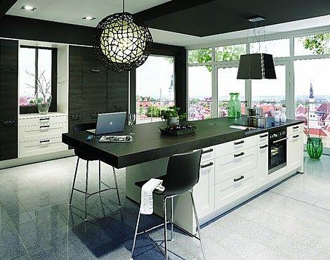 Moderne Kücheninsel zeitlos moderne kücheninsel mit ansatztisch theke inkl markengeräte