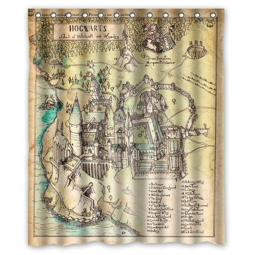 Perfect Home Decorative Curtain Harry Potter The Marauder S Map