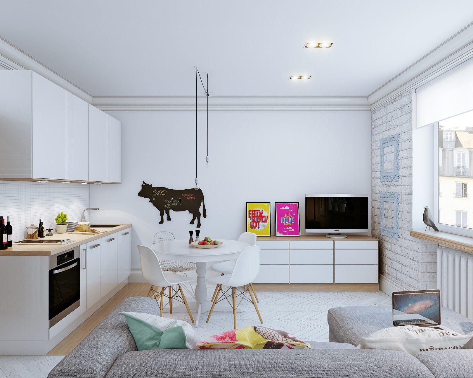 Como decorar una casa pequeña de 25 metros cuadrados | La hipoteca ...