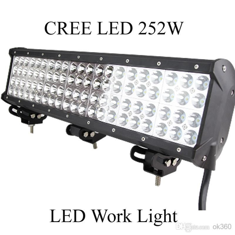 20 Inch Cree 84 Led 3w Work Light Bar Off Road Suv Atv 4wd 4x4 Spot Flood Combo Beam 21000lm 10 30v Ip67 Jeep Truck Boat Work Lights Bar Lighting Lamps Online