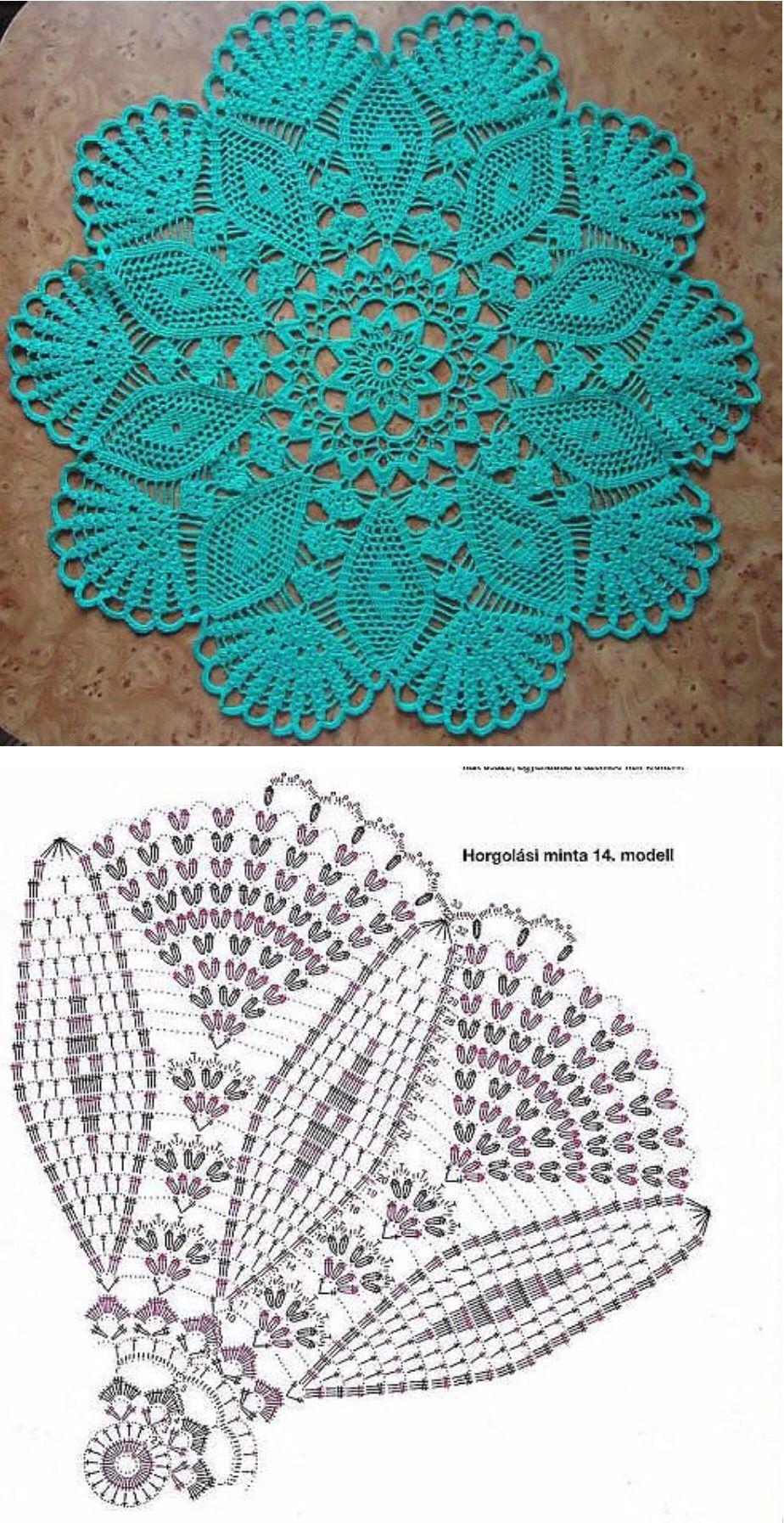 Снежинка | crafts | Pinterest | Deckchen, Häkelmuster und Runde
