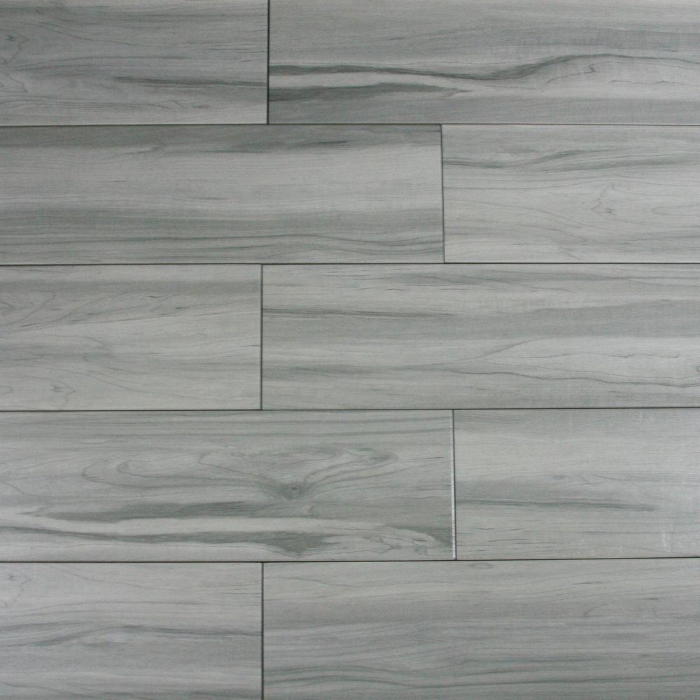 weathered grey wood look porcelain tile  subway tile
