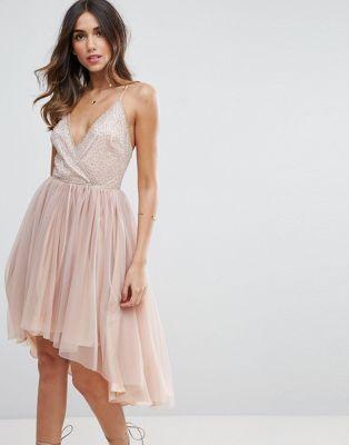 ASOS Ballerina Mesh Sparkle Tulle Midi Dress  993e3d77204