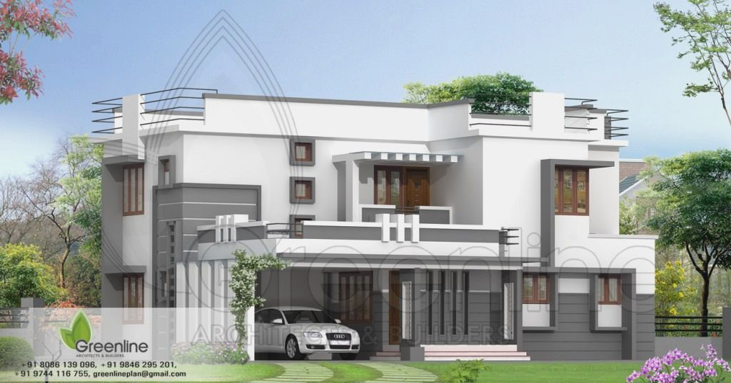 Contemporary 2 Story Kerala Home Design   2400 Sq.