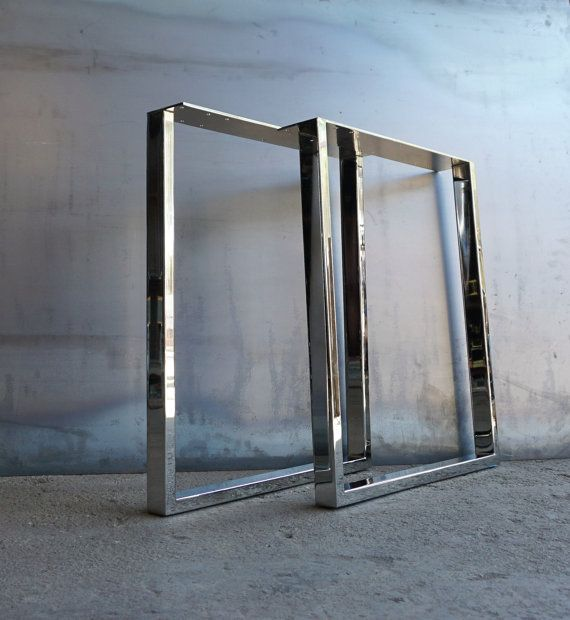U Shape Stainless Steel Mirror Finish Etsy Steel Table Legs