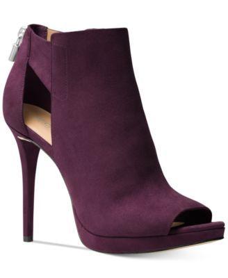 19d71742accb MICHAEL KORS Michael Michael Kors Mira Peep-Toe Booties.  michaelkors  shoes    all women