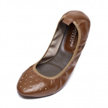 NEW! Hoxton Studded Chestnut Brown