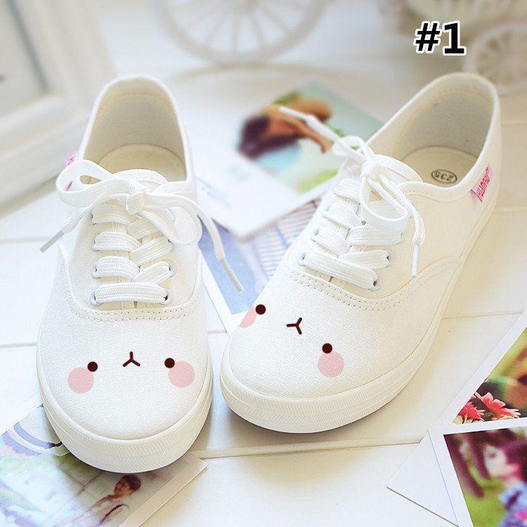 2d91ac320c22c Kawaii Emoji Printing Canvas Shoes SP167951 | Looks de diva ...