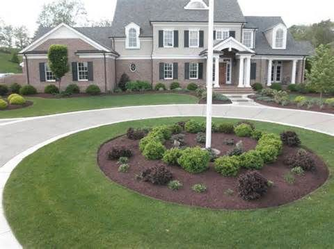 Flag Pole Landscaping Yahoo Image Search Results Flag Pole Landscaping Circle Driveway Landscaping Small Front Yard Landscaping