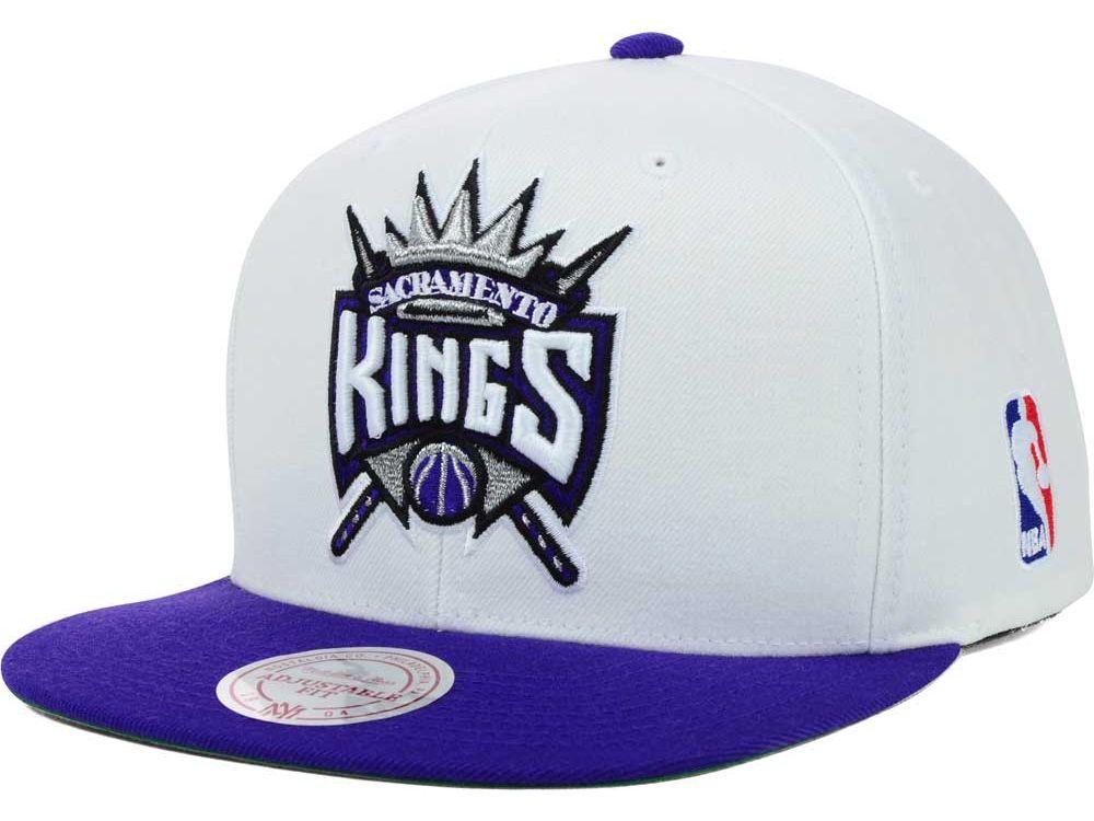 buy popular a4cc2 e19b5 Sacramento Kings Mitchell and Ness NBA XL Logo Snapback Cap