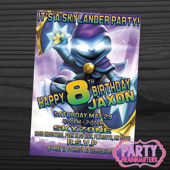 PRINTABLE INVITATION  Skylanders Swap Force  by PartyHeadquarters