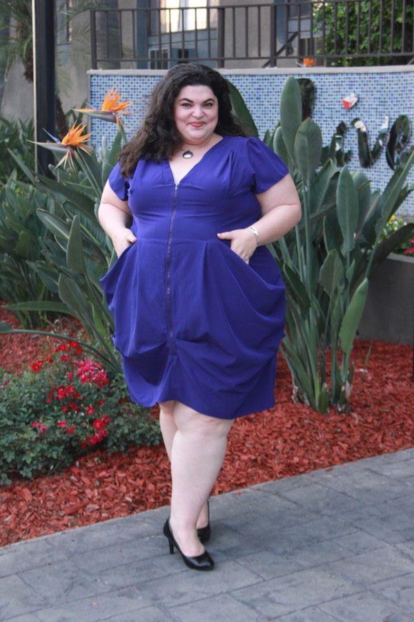 City Chic Sapphire Zip Front Tunic Dress Via Gwynniebee Plussize