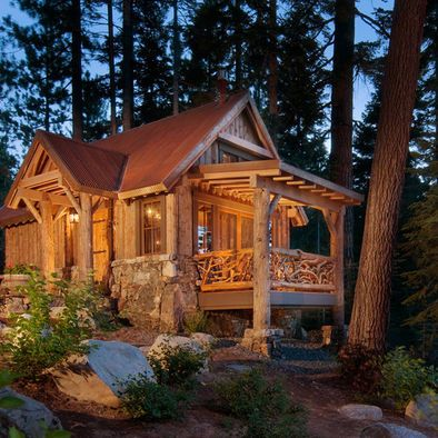 Cottage Style Livingroom Design Pictures Remodel Decor And Ideas Page 24 Small Cabin Cabins And Cottages Log Cabin Homes
