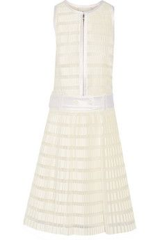 3.1 Phillip Lim Twill-trimmed pleated cotton-blend dress | THE OUTNET