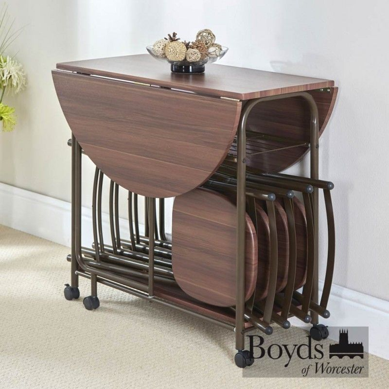 Stowaway Dining Set Space Saving Dining Table Folding Dining Chairs Butterfly Dining Table