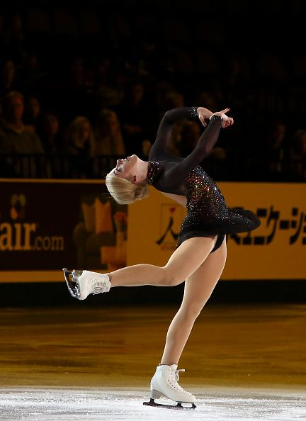 Gracie Gold of USA skates in the Smucker's Skating Spectacular on October 25 2015 in Milwaukee Wisconsin
