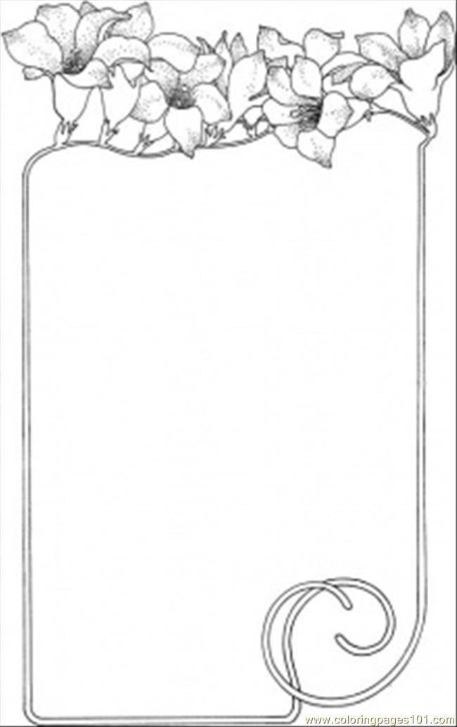 Coloring Pages Image By Faucharly On Border Free Printable